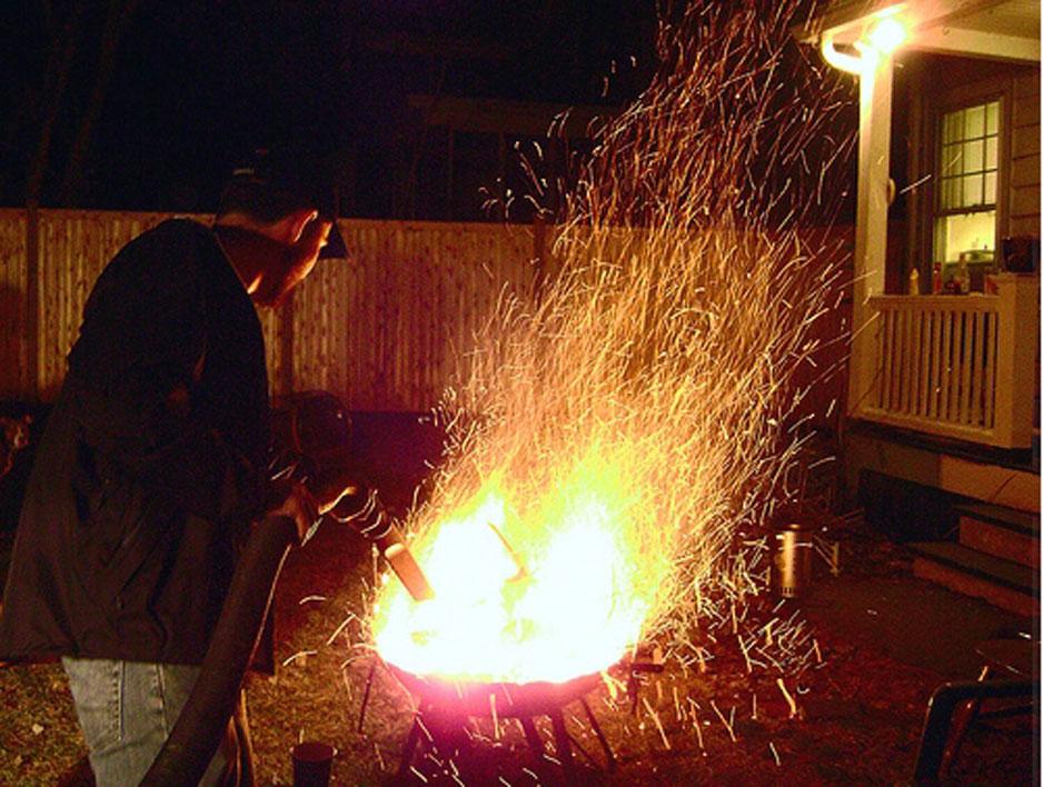 aspiradora fuego